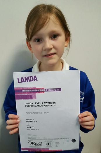 Rebecca: LAMDA L1 Grade 2!