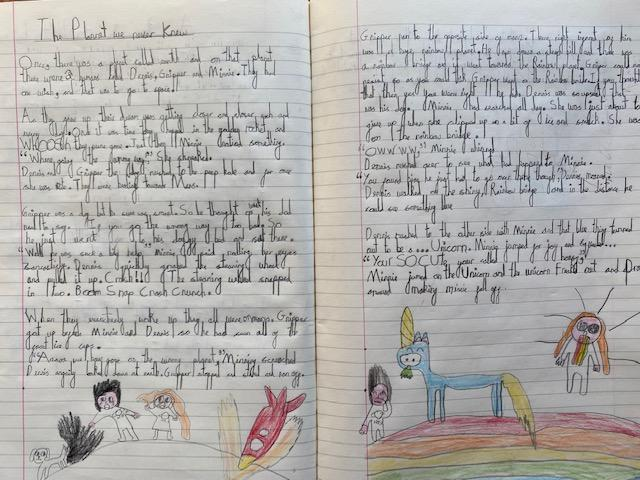 Betsy wrote a sci-fi story