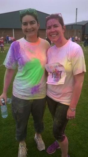Mrs White and Miss Hogbourne - Oakhaven colour run
