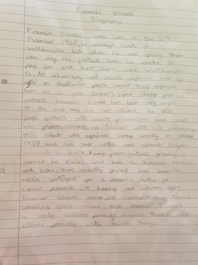 Leon wrote a biography about Francis Benali
