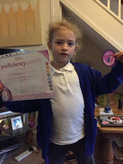 Katie Lewin - Gymnastics award!