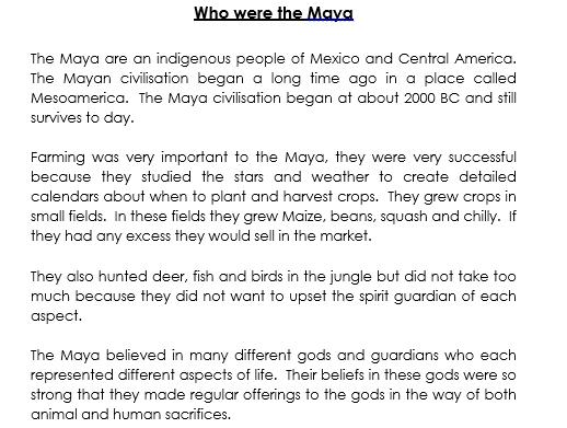 Who were the Maya by Jorja