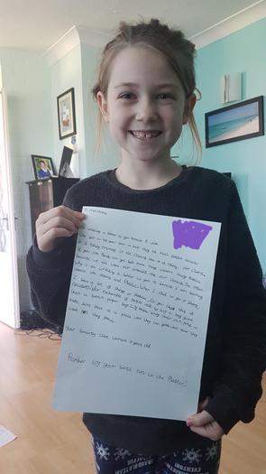 Chloe's letter to Morrisons