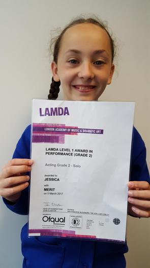 Jessica - LAMDA Level 1 Grade 2!