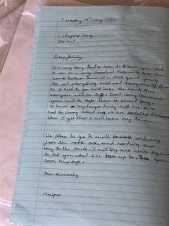 Evie's letter