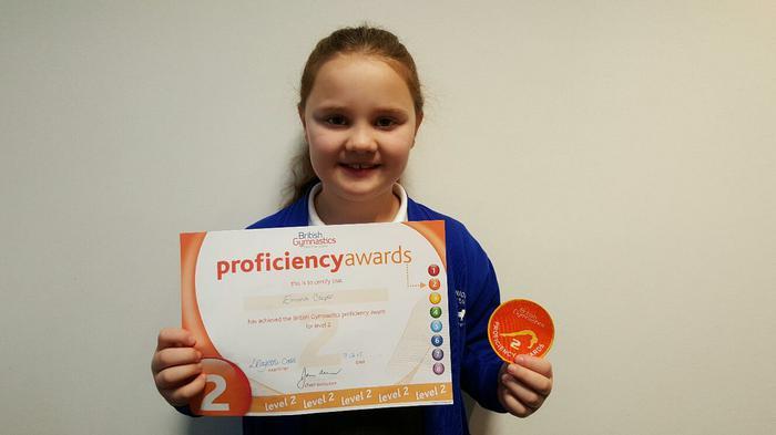 Emma 3NH Gymnastics Award LEVEL 2!
