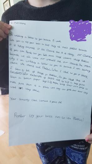 Chloe's letter to Morrisons!