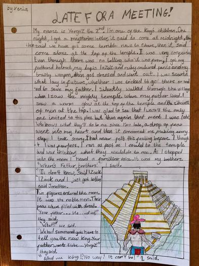 Xenia's Creative Writing - Late for a Meeting