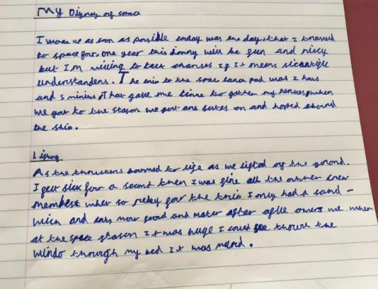 Austin wrote a Space Diary