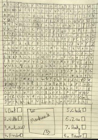 Have a go at Betsy's wordsearch