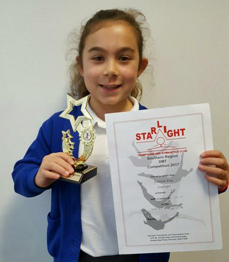 Jasmine: DMT trampolining competition...1st!