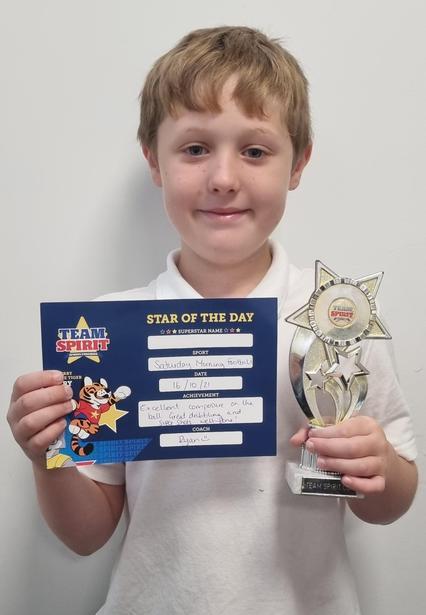 """Team Spirit """"Star of the Day"""" footballer!!"""