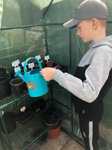 Henry is continuing gardening club at home