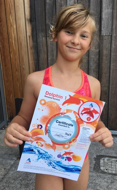 Swimming Award: Dolphin L1 in Suvival!