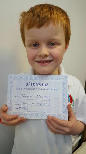 Thomas - Ski and Snowboard school - Diploma!