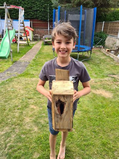 Elliot's finished bird box!