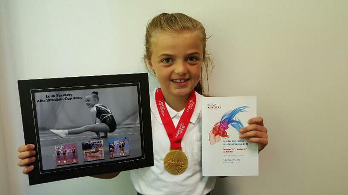 Leila (4MG) Gymnastics champion!