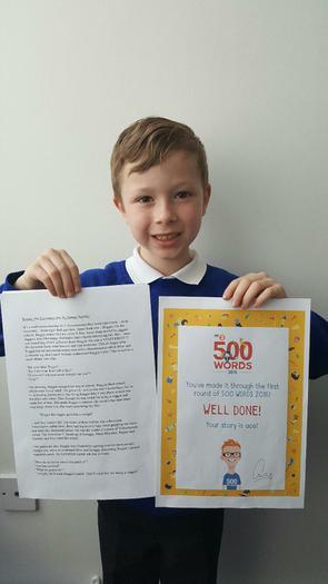 Sam:winner of 500 Words! (Reggie the Veggie!)