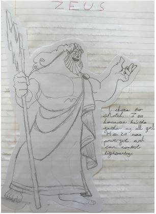 Henry's Zeus drawing