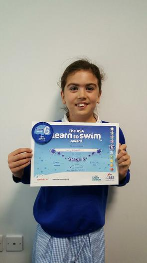 Lucy - Swimming Award - Level 6!