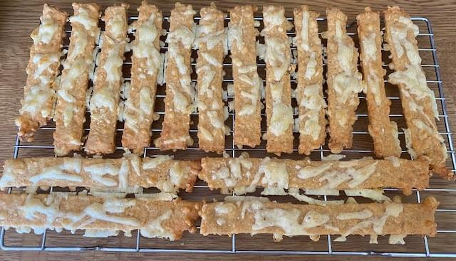 Poppy baked some delicious-looking cheese straws!