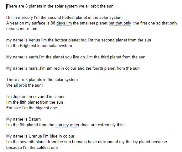 Ollie's Space rap