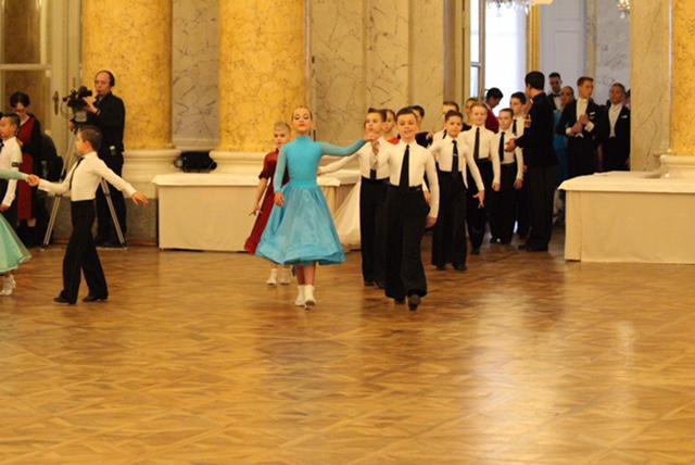 The ballroom dancers enter!