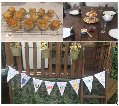 Austin's homemade VE Day Celebrations