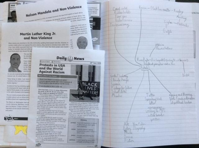 Lizzie's civil rights & slavery history learning 1