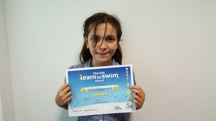 Indigo - Level 4 Swimming Award!