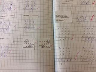 Finn has been practising his addition calculations