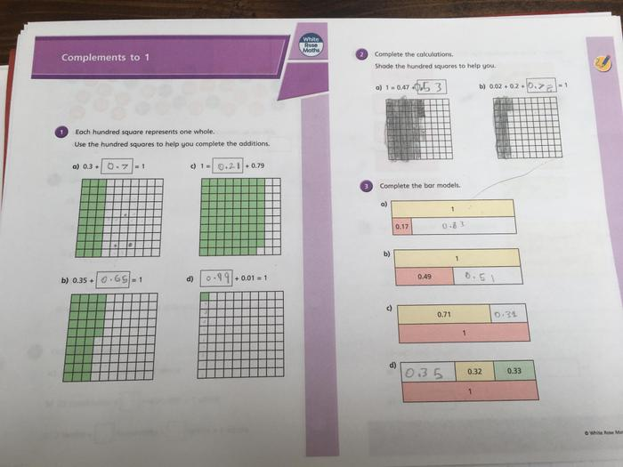 Austin has completed this weeks maths