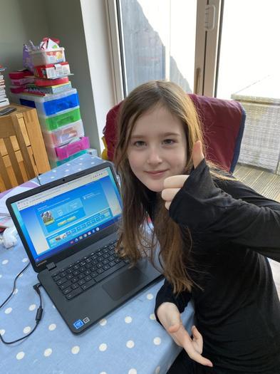 Jemma doing well on Reading Plus