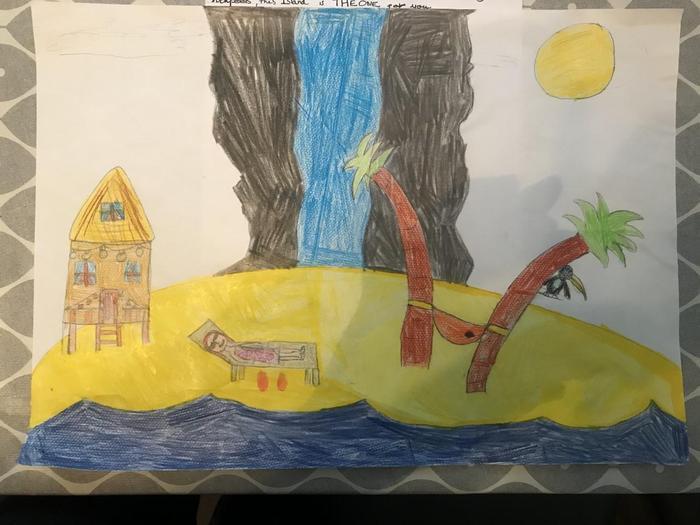 Isla's paradise island drawing
