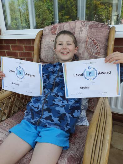 Archie achieves TWO awards! Brilliant!