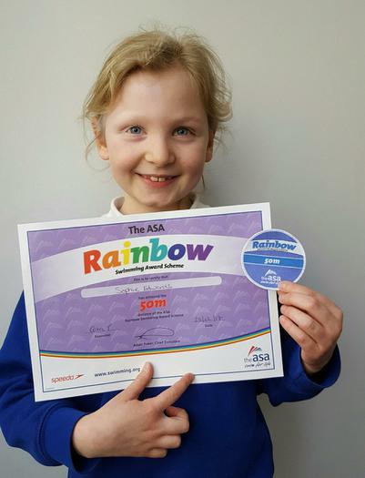 Sophie - Swimming Award - 50m!
