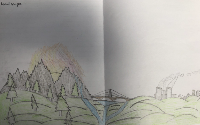 William Sketched a Beautiful Landscape