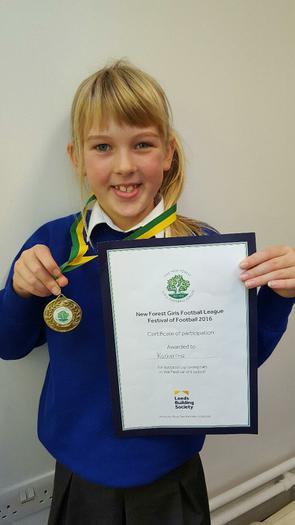 Katherine - NF girls football award!