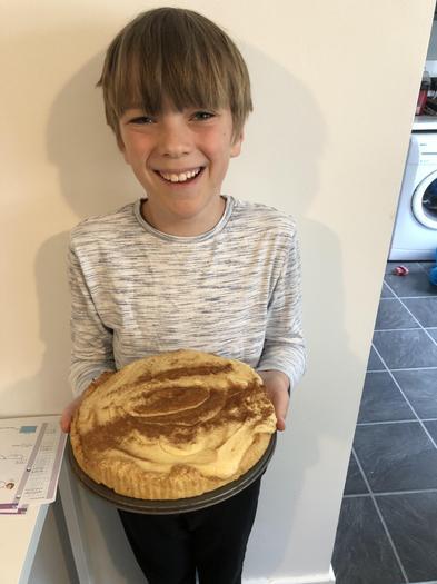 Joe has baked a custard pie