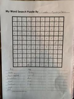 Lincoln's wordsearch puzzle