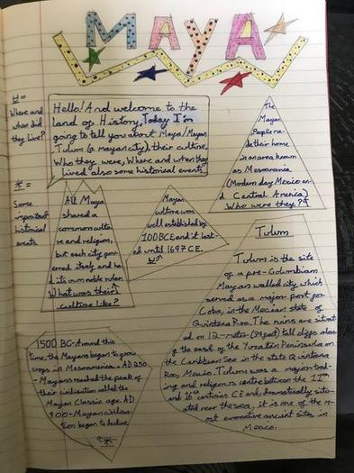 Teagan's final piece of writing about the Maya
