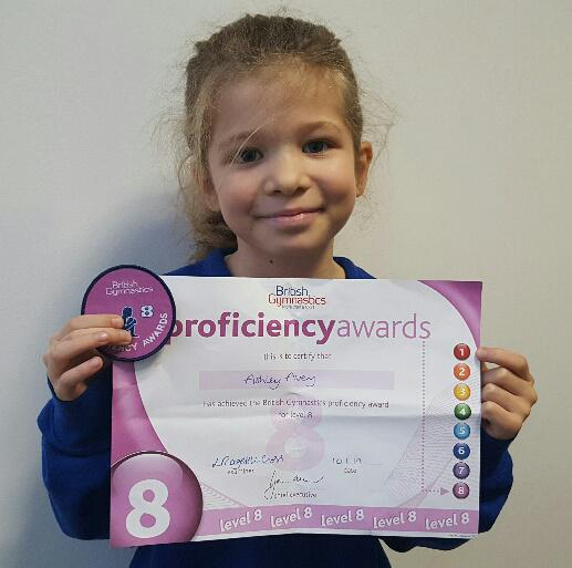 Ashley - L8 gymnastics award!