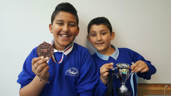 Ajay and Arjan - Tai Kwon Do champs!