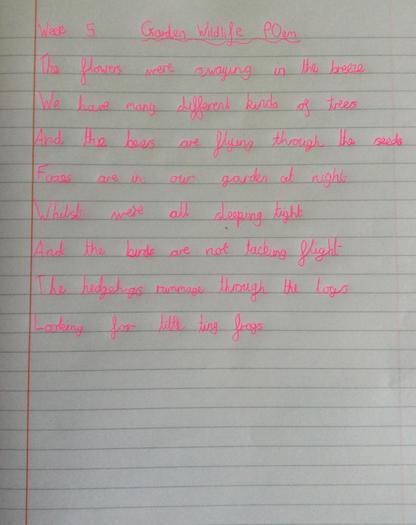 Vicky's garden poem