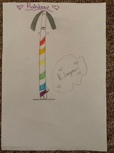 Rosie's rainbow drawing