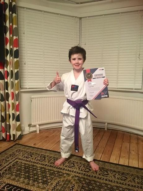 Purple belt in karate