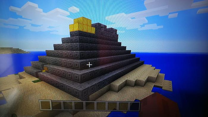 Owen made a Maya temple on Minecraft