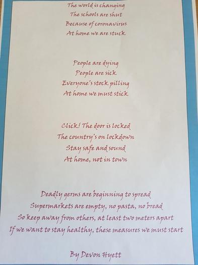 Devon has written a poem