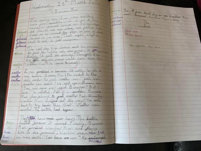 Imogen's story writing
