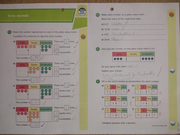 Oscar's maths learning